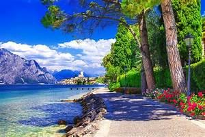 Lake, Mountain, Summer, Beauty, Tree, Landscape, Sky, Cloud, Flower, Wallpapers, Hd, Desktop, And