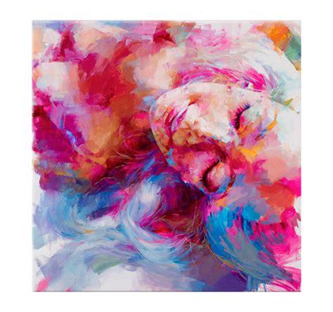sleeping woman contemporary art print artwall