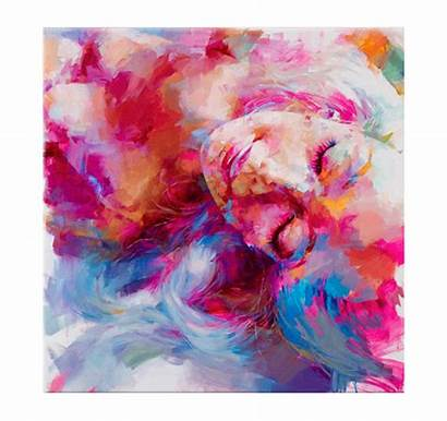Woman Paintings Sleeping Abstract Contemporary Tableau Inspiration