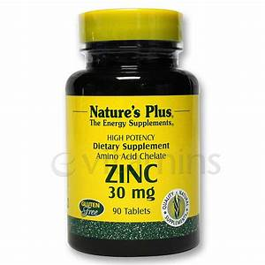 Nature U0026 39 S Plus Zinc 30 Mg - 90 Tabs