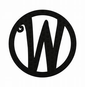 embossed black felt monogram letter w for sale With monogram letter w