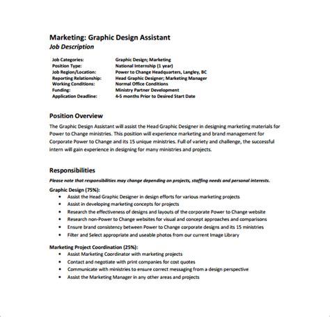 Graphic Designer Description Duties by 10 Graphic Designer Description Templates Free Sle Exle Format Free