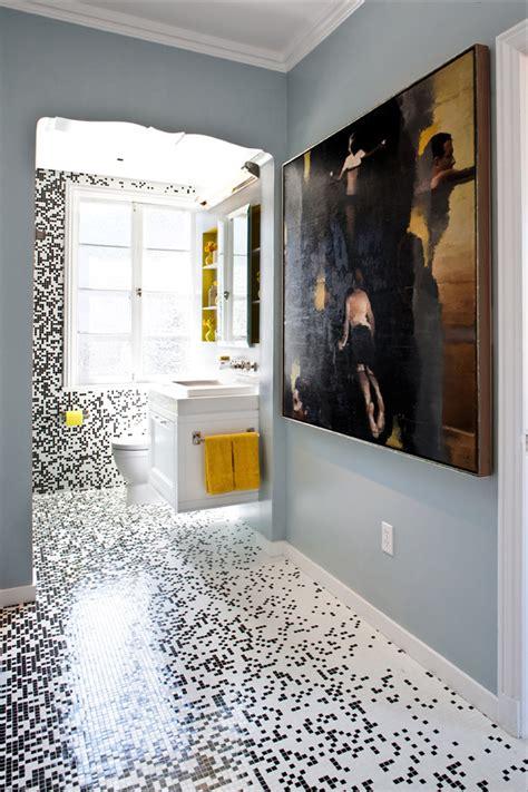 Pixilated Bathroom Design Made With Custom Mosaic Tile