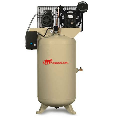 ingersoll rand 7 5 hp 80 gallon two stage air compressor 208v 3 phase ebay