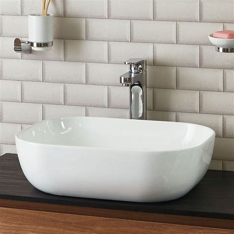 phoenix rectangular mm counter top ceramic basin vb