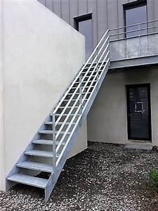 Escalier Exterieur Metal : escaliers et garde corps collectifs et industriels ~ Voncanada.com Idées de Décoration