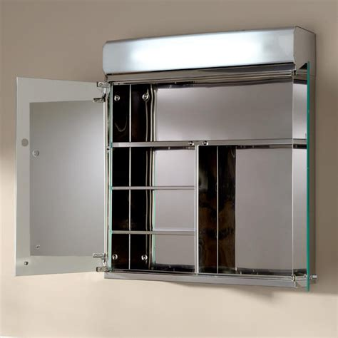 delview stainless steel medicine cabinet with lighted mirror bathroom