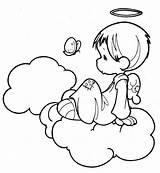 Angel Coloring Pages Angels Printable Moments Precious Para Drawings Dibujos Boy Colorear Guardian Pintar Imprimir Imagenes Ange Disney sketch template