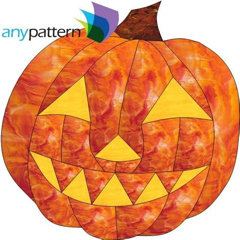halloween pumpkin stained glass pattern anypatterncom