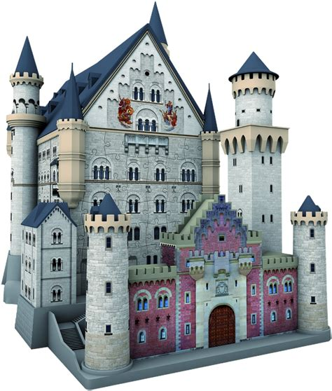 Ravensburger Neuschwanstein Keepsake 3-D Puzzle, 216 Pieces, Glue Free # 12573