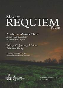 News & Events > Academia Musica Perform Fauré and Mozart ...