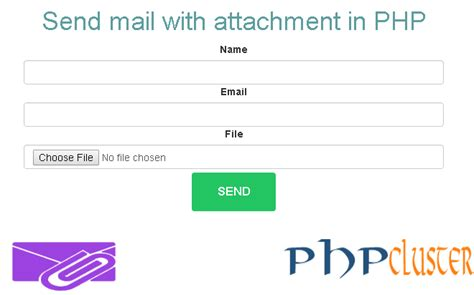 how to send mail with attachment in php phpcluster