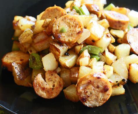 sausage potato skillet sausage and potato skillet dinner or breakfast