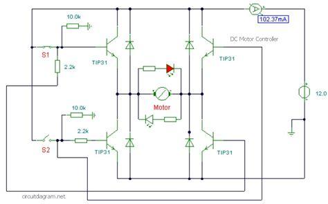 dc motor controller  transistor tip circuit schematic