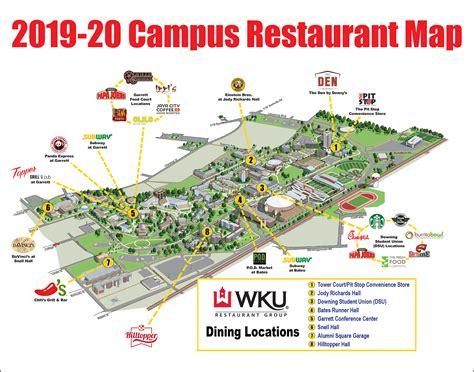 campus restaurant map western kentucky university