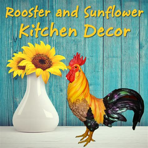 rooster  sunflower kitchen decor theme