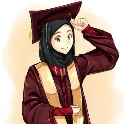 anime muslim wisuda pin kartun muslimah yang menawan hati gambar genuardis