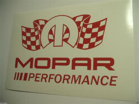 mopar dodge chrysler performance racing logo vinyl sticker