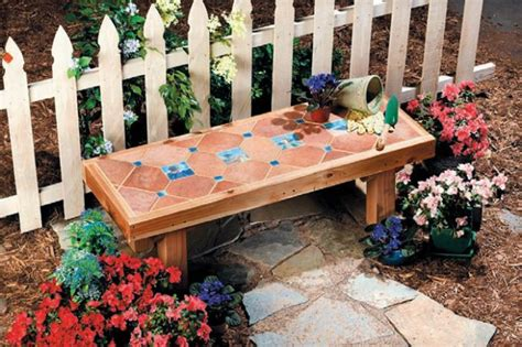diy ceramic tile bench garden pinterest ceramics