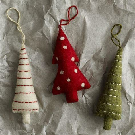 felt tree ornaments west elm