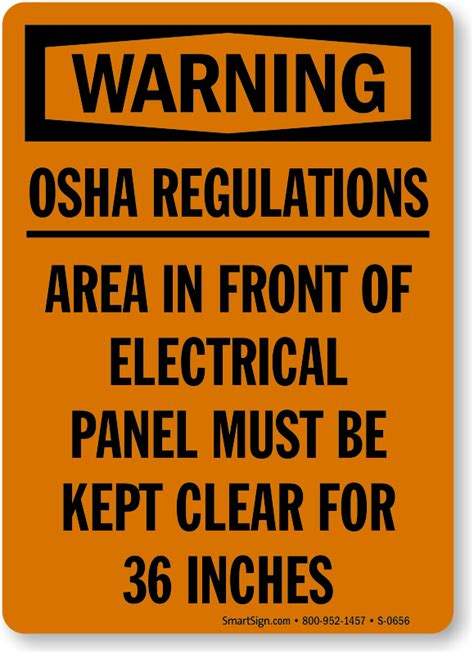 The circuit breaker is an important device in the modern home, and one of the most important safety precautions you can take in electricity comes into your home through wires that connect to your breaker panel. OSHA Warning Signs   Stock & Custom Designs   MySafetySign