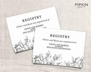 wedding registry card wedding info card download registry With free wedding registry card template