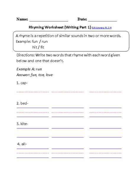 grade common core reading literature worksheets