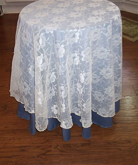 round lace table overlays vintage lace overlay tablecloth 60 round cream color