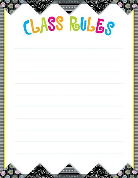 classroom rules template class rules poster template google search lesson