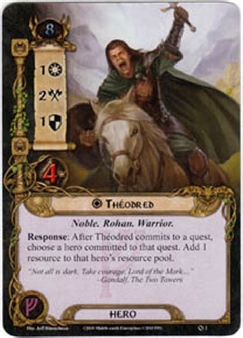 lotr lcg deck lists theodred set lord of the rings lcg lord of the