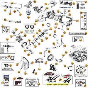 Dana Model 44 Front Axle Parts For Wrangler Tj