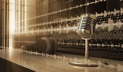 Studio Audio Sound Microphone Retro Headphones Silver