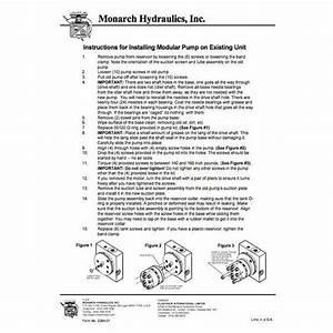 Downloadable Monarch Hydraulics Pump Installation Guide