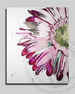 Tableau Fleurs Moderne : flower floral art textured on canvas 16x20 inches pink ~ Teatrodelosmanantiales.com Idées de Décoration