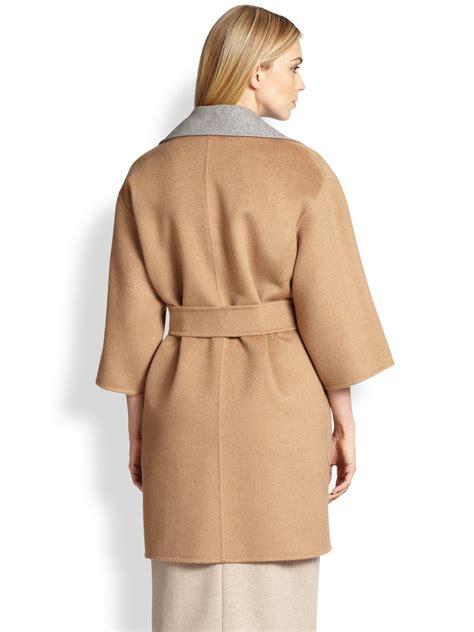 maxmara by hl max mara reversible wrap coat in lyst