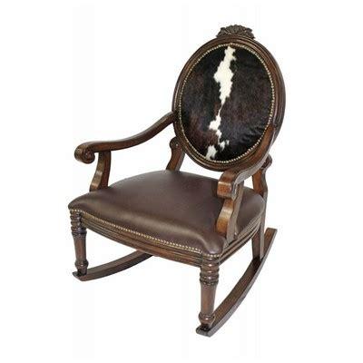 Cowhide Rocking Chair by Harris Furniture 6239 Ch Cowhide Rocking Chair