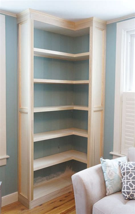 Corner Bookcase by Building A Corner Bookcase Woodworking Projects Plans
