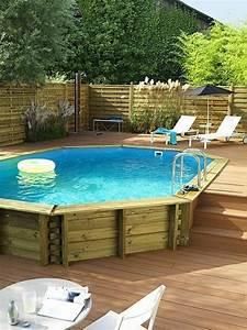 nivremcom terrasse en bois avec piscine hors terre With marvelous terrasse piscine semi enterree 12 piscines bois petite piscine hors sol enterree
