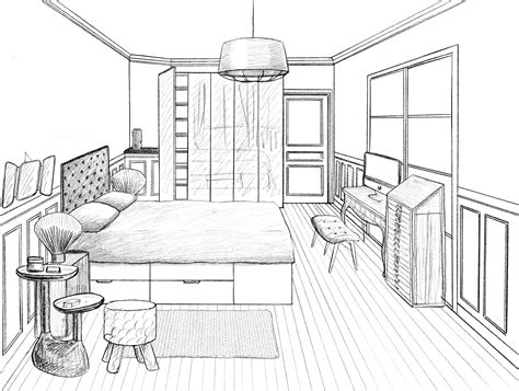 chambre en perspective dessin dessin chambre en perspective dessin chambre en