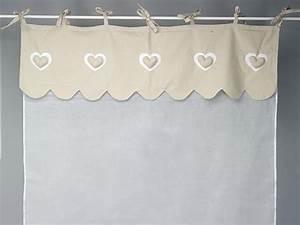 Rideau En Lin Ikea : rideau voilage cru et feston en lin coeur simla ~ Teatrodelosmanantiales.com Idées de Décoration