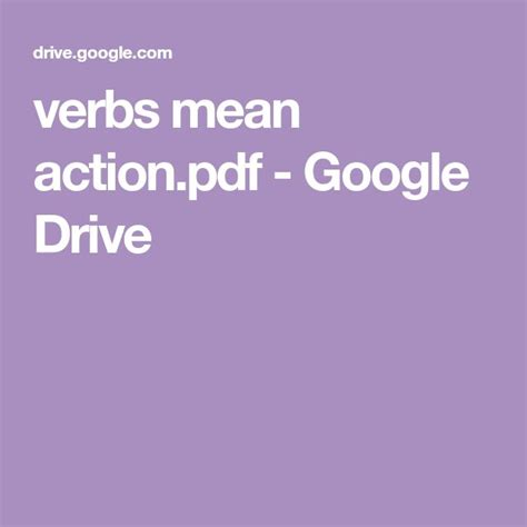 verbs  actionpdf google drive    images