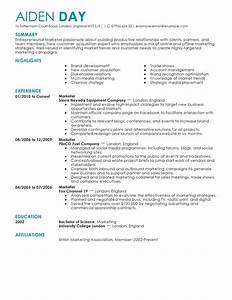 resume format 2016 2017for marketing manager resume 2018 With best marketing resume templates