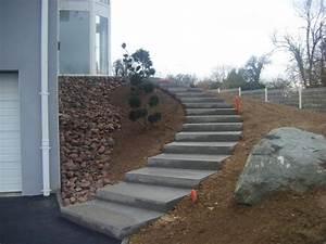 escalier exterieur en beton escaliers en beton desactive With lovely amenagement terrasse et jardin 1 paysagiste en ligne creation jardins et terrasses