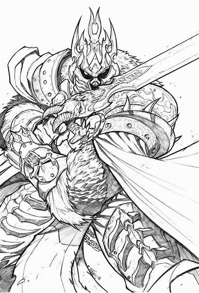 Warcraft Coloring Pages Books Drawings