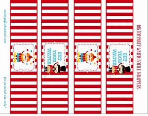 Water bottle labels circus pinterest for Circus water bottle labels