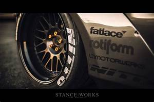 stance works the liberty walk ferrari 458 With japanese tire lettering