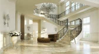 Beautiful Staircase Interior In The Banister Of This Sweeping Staircase Seems To Go On Forever
