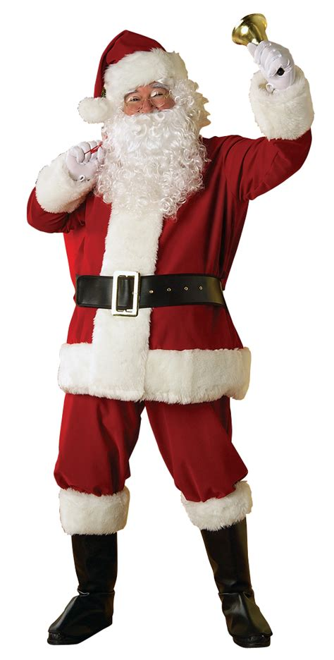 father christmas santa claus mens fancy dress costume suit outfit beard ebay