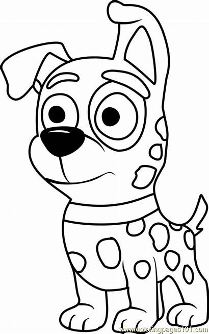 Coloring Puppies Pound Patches Pages Puppy Cartoon
