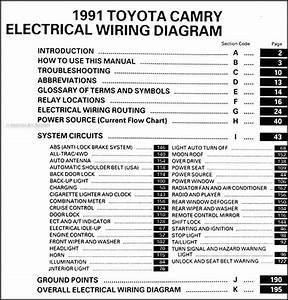 1991 Toyota Camry Wiring Diagram Manual Original